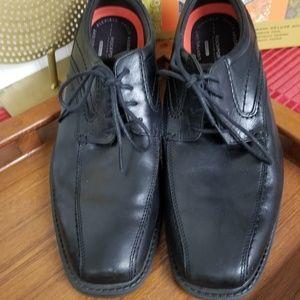 EUC Rockport Men's Black Leather Dress Shoes 10
